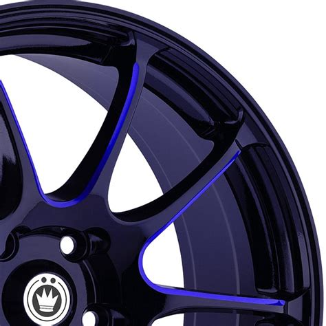 Interior Illusions Home by Konig 174 Illusion Wheels Black With Blue Ball Cut Machined