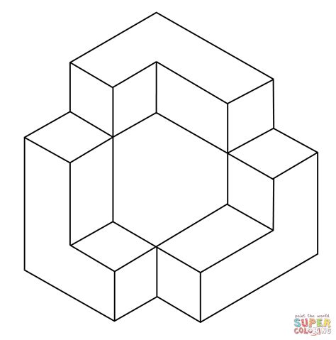 printable optical illusions 3d visual illusions coloring pages