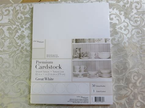 Cardstock Paper Craft Ideas - white dinations premium cardstock 8 5 x 11 quot