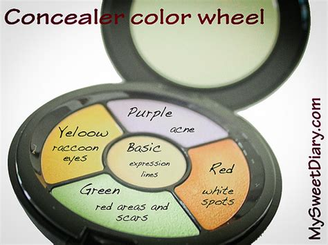 what color should your concealer be concealer color wheel mysweetdiary by