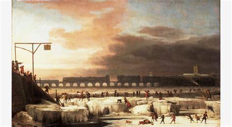 thames river frozen the frozen thames looking eastwards towards old london