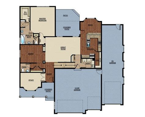 rv garage floor plans homes is proud to present the veranda a semi custom home with an attached rv garage