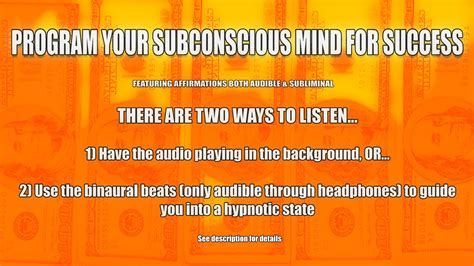 how to get from to success the hypnotic journey books program your subconscious mind for success with audible