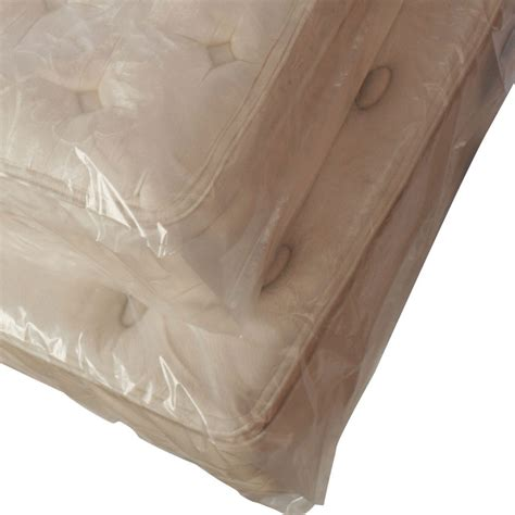 plastic bed cover full mattress plastic bags 3 mil 54 quot x 9 quot x 90 quot gusseted