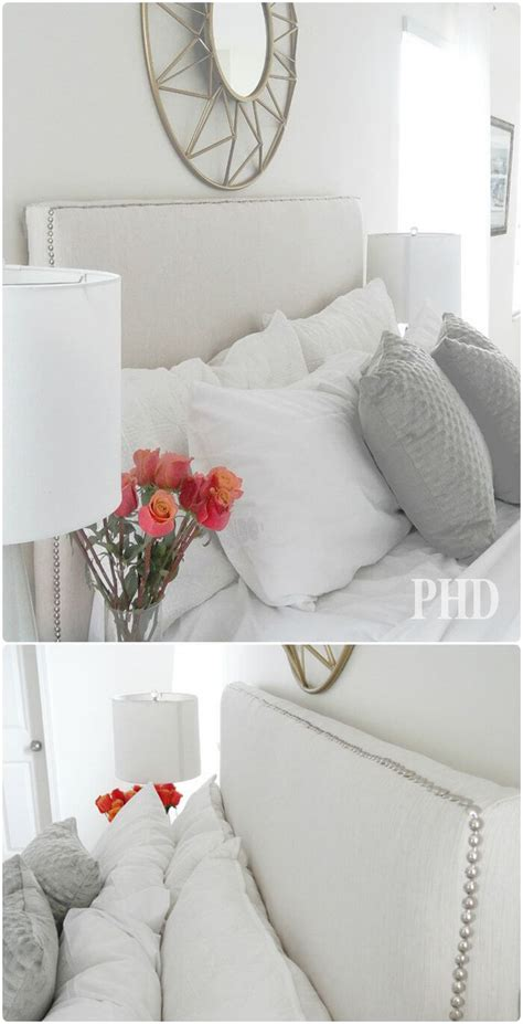 fabric headboard with nailhead trim diy headboards 40 cheap and easy diy headboard ideas