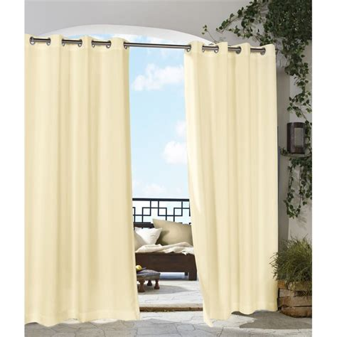 commonwealth curtains commonwealth outdoor decor gazebo 84 quot grommet curtain