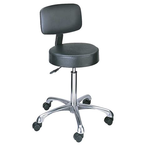 Safco Stools by Safco Lab Stool Pnuematic Lift With Back 3430bl