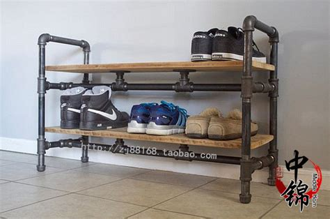 industrial shoe racks storage cheap retro loft industrial style wrought iron wood