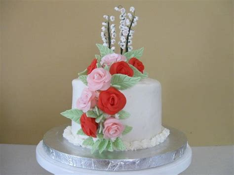 wedding cake  anniversary  bright rosesjpg