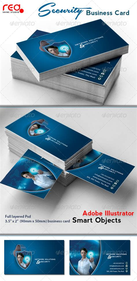 security systems business card template network solutions security business card by