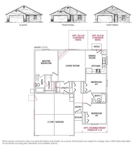28 cbh homes floor plans cbh homes hermosa 1841
