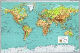 Detailed World Map by World Physical Map 1970 Full Size