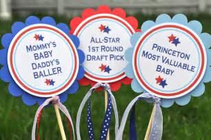 3 centerpiece sticks boys baby shower or birthday sports