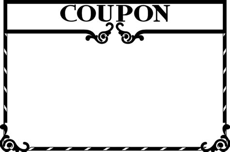coupon clip art template cliparts co