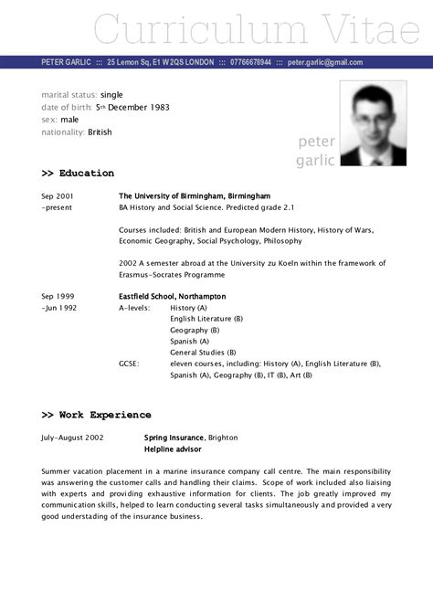 specimen cv format cv sle fotolip rich image and wallpaper