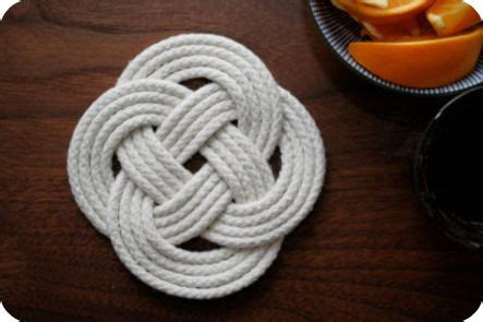 nudo wall base knot so hard make your own nautical knot coasters