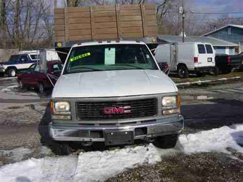 car engine repair manual 1998 gmc 3500 club coupe electronic throttle control purchase used 1998 gmc 3500 6 5 diesel stake bed dump with power liftgate one owner in fort