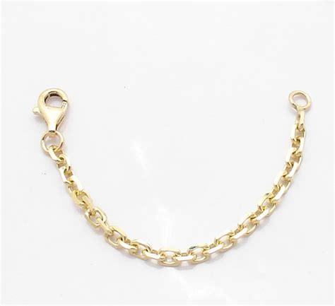 3mm heavy duty solid cable chain necklace extender real