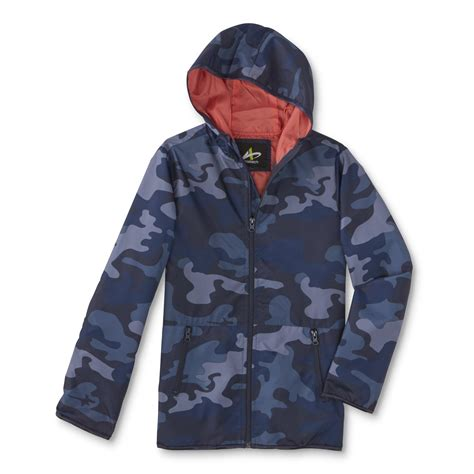 Camouflage Your Shopping by Athletech Boys Hooded Windbreaker Jacket Camouflage