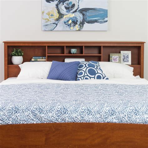 prepac headboard prepac monterey cherry king headboard csh 8445 the home