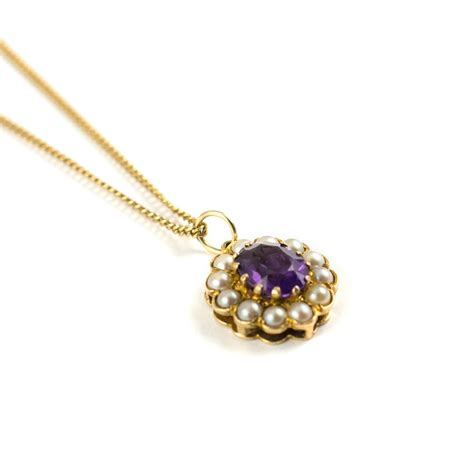 pearl pendants for jewelry antiques atlas vintage amethyst pearl pendant necklace