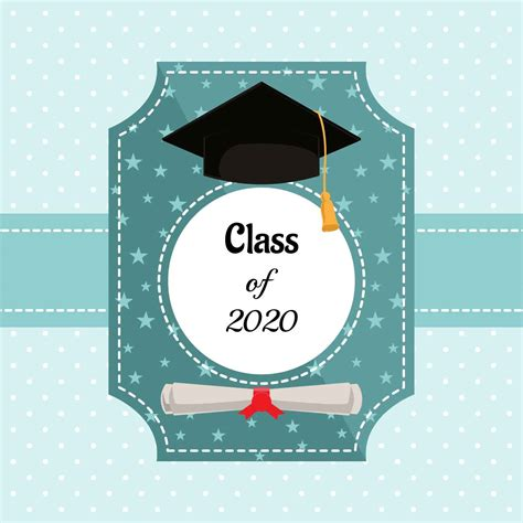Happy Graduation Card Template by Graduation Card Vector Template Free Vector