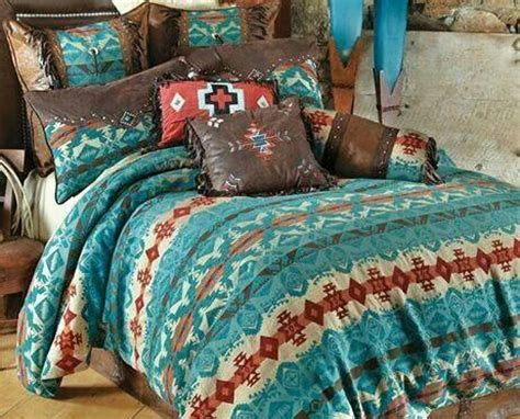 turquoise and red bedding turquoise tan brown red western bedding set home