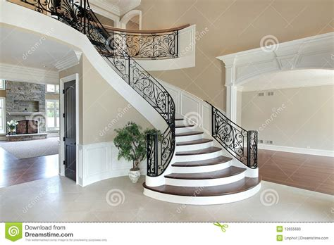 Gothic Mansion Floor Plans by Foyer With Grand Staircase Stock Image Image Of Foyer