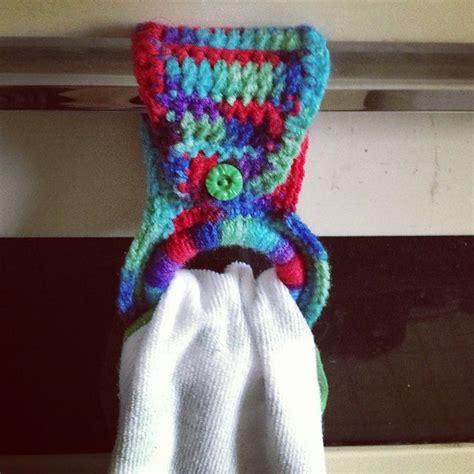 kitchen towel hangers    crochet project   hadnt originally intended