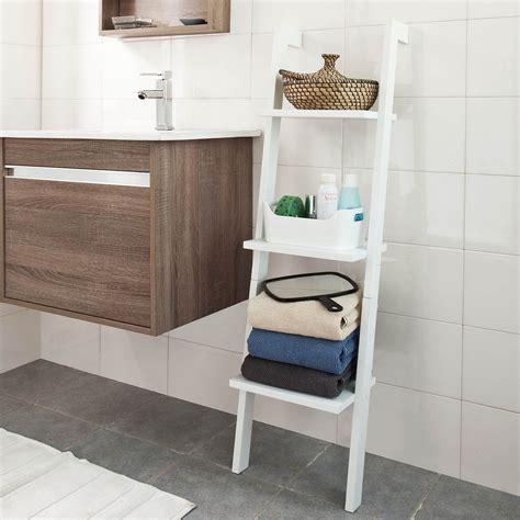 sobuy frg sch etagere murale style echelle salle de bain etagere echelle deco meuble de