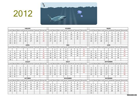 Calendrier Gratuit 2012 Calendrier 2012