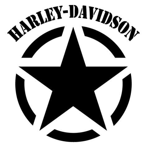 Harley Aufkleber Auto by Harley Davidson Army Star Decal