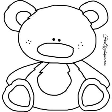 free teddy template teddy patterns for applique freeapplique