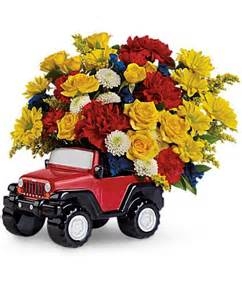 Jeep Flowers Jeep Wrangler King Of The Road By Teleflora Flowers Jeep