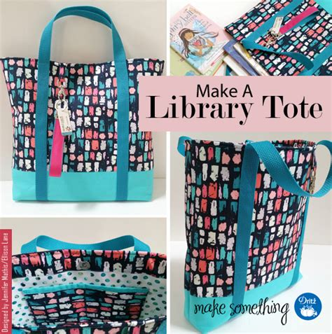 tutorial c library sewing tutorial make a library tote bag make this