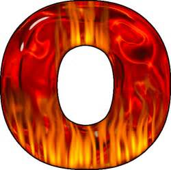 O presentation alphabet set hot letter o