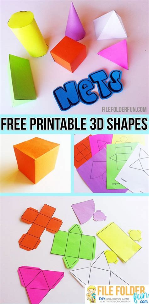 How To Make 3d Paper Shapes - free printable 3d shapes