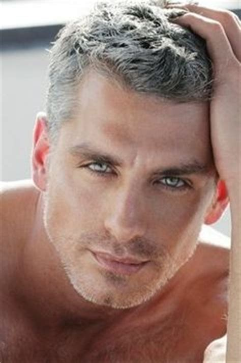good looking men with grey hair hot men on pinterest silver foxes bald men and javier