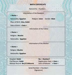 birth certificate template 7 birth certificate templates free exles sles