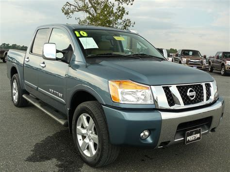 truck maryland used truck maryland for sale 2010 nissan titan le 4wd crew