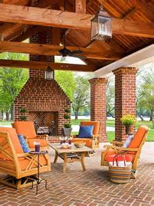 outdoor fireplace ideas covered patios fireplaces and