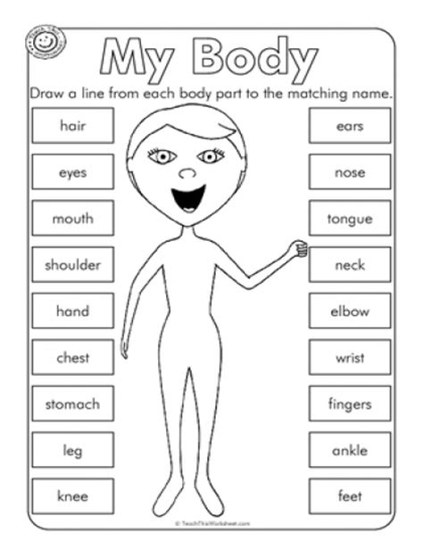 preschool coloring pages my body my body preschool worksheets sketch coloring page