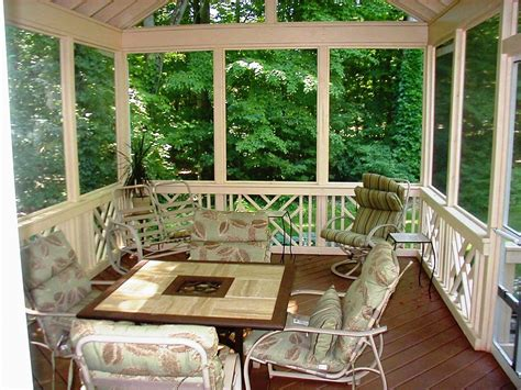 Patio Divider Ideas Screen Porch Flooring Options And Considerations In