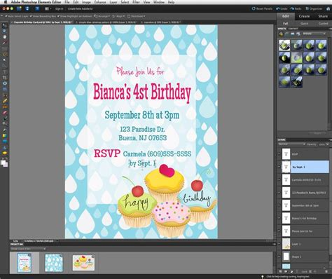 photoshop tutorial pdf free download beginners tutorial make your own invites with photoshop elements
