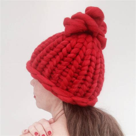Handmade Beanie Hats - handmade chunky knitted beanie hat by wool couture
