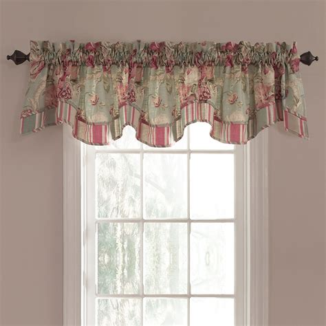 waverly valances waverly bling 18 in vapor cotton back tab valance at lowes