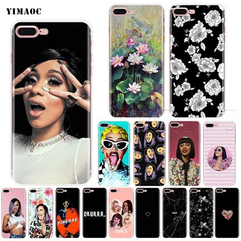 cardi b iphone 7 plus yimaoc cardi b soft silicone for iphone xs max xr x 8 7 6 6s plus 5 5s se in fitted cases