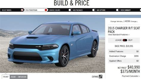 charger news today build your 2015 dodge charger r t pack today torque
