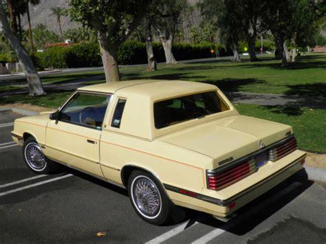 chrysler lebaron vents 1985 chrysler lebaron turbo coupe cross leather
