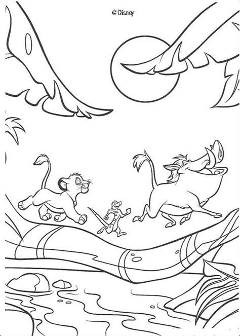 lion king timon and pumbaa coloring pages simba timon und pumbaa rennen zum ausmalen de hellokids com